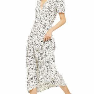 TOP SHOP white/black midi dress, size 6